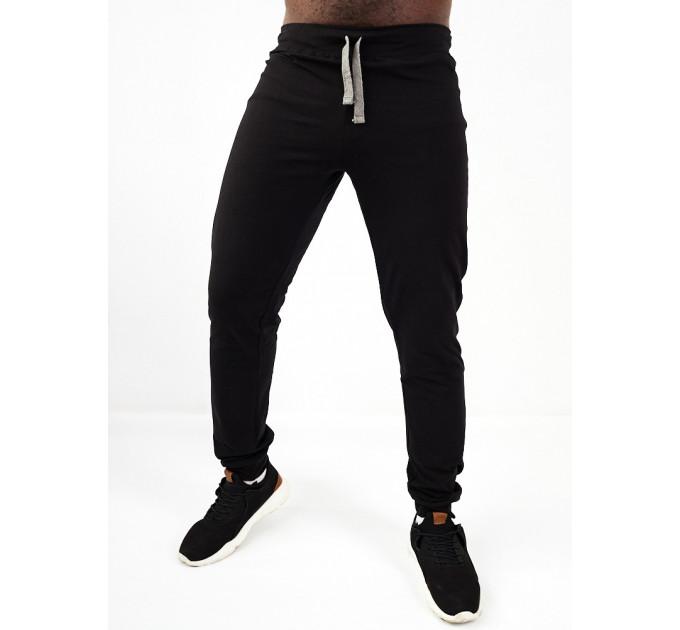 Легкие мужские спортивные брюки в черном цвете ASHBORN