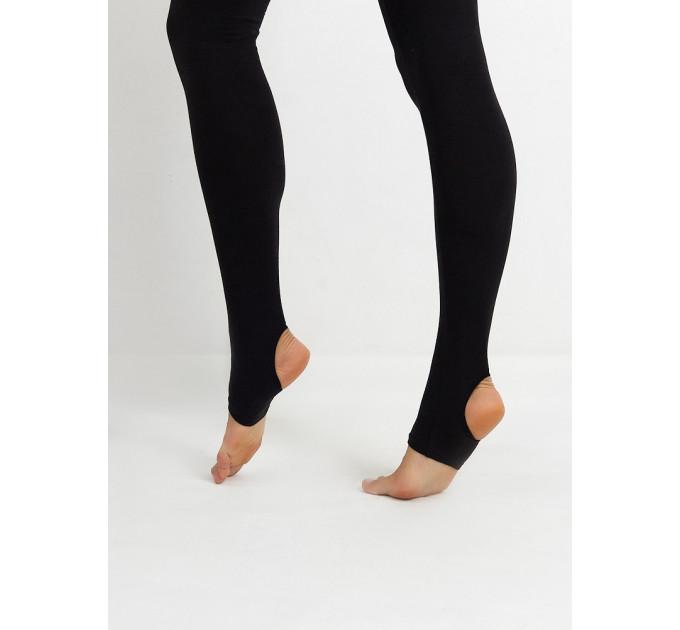 Черные лосины для йоги и спорта с высокой талией и пяточкой