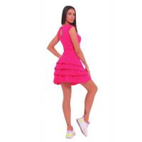 Спортивное платье с рюшами Rose Magenta