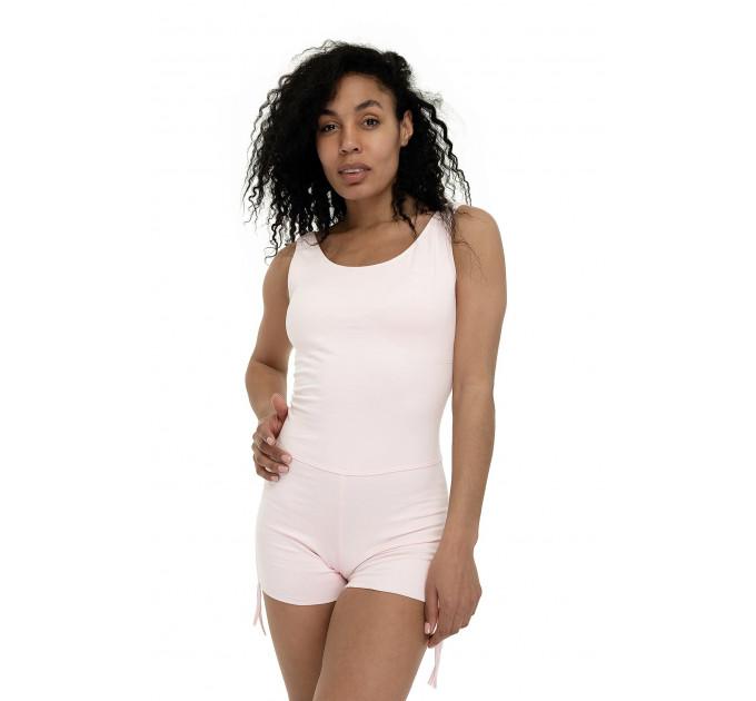 Женский боди с шортами и плетением на спине Zefirr Pink