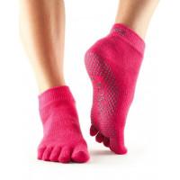 Носки для йоги ToeSox Grip Full Toe Ankle (Fuchsia)