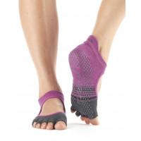 Носки для йоги ToeSox Grip Half Toe Bellarina (Mulberry Stripe)
