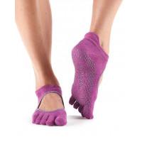 Носки для йоги ToeSox Grip Full Toe Bellarina (Mulberry Batik)