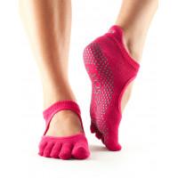 Носки для йоги ToeSox Grip Full Toe Bellarina (Fuchsia)