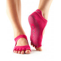 Носки для йоги ToeSox Grip Full Toe Bellarina (Pomegranate Stripe)