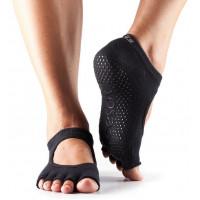Носки для йоги ToeSox Grip Half Toe Bella (Black)