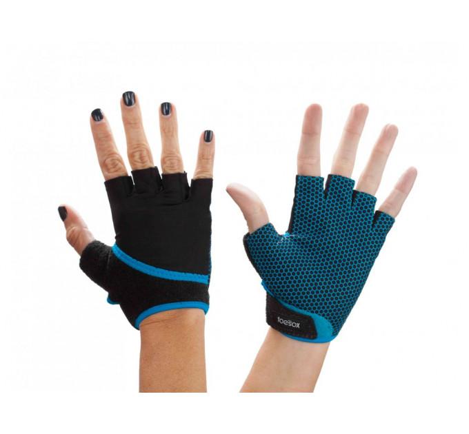 Нескользящие перчатки для йоги, стретчинга ToeSox Grip (Skydiver)