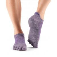Носки для йоги ToeSox Grip Full Toe Low Rise (Opal)