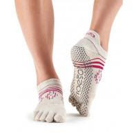 Носки для йоги ToeSox Grip Full Toe Low Rise (Ritual)