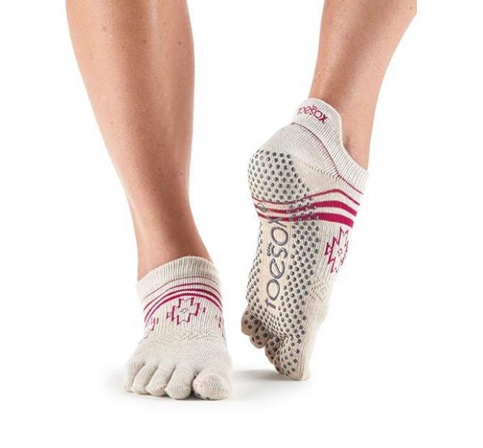 Нескользящие носки для йоги и танцев ToeSox Grip Full Toe Low Rise (Ritual)