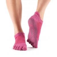 Носки для йоги ToeSox Grip Full Toe Low Rise (Ruby)