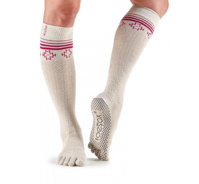 Нескользящие носки для йоги и танцев ToeSox Grip Full Toe Scrunch (Ritual)