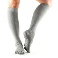 Носки для йоги ToeSox Grip Half Toe Scrunch (Heather Grey)