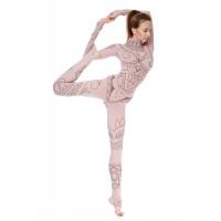 Комбинезон для йоги и фитнеса Mehendi Nude LS