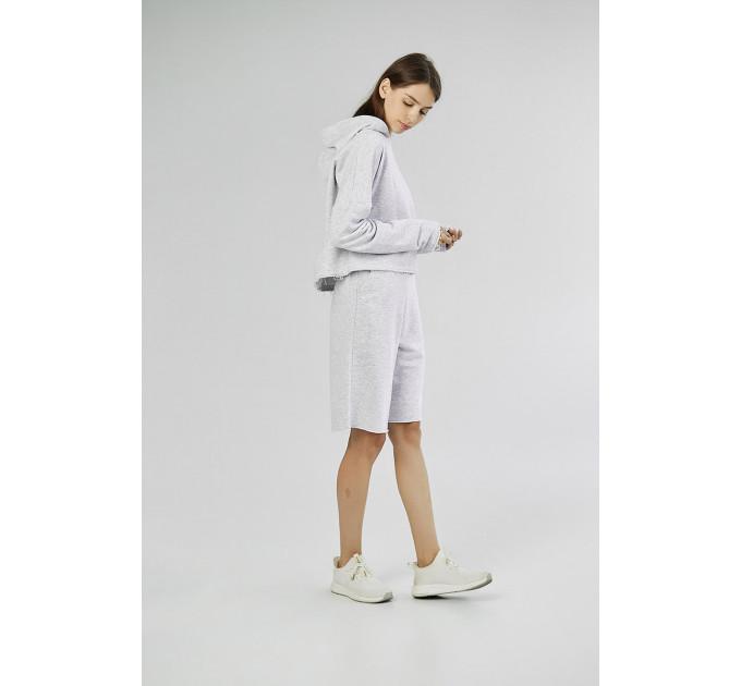 Женский спортивный костюм с шортами и худи City Place Gray melange