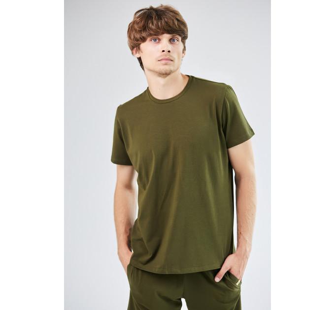 Мужская базовая футболка цвета хаки Kabul