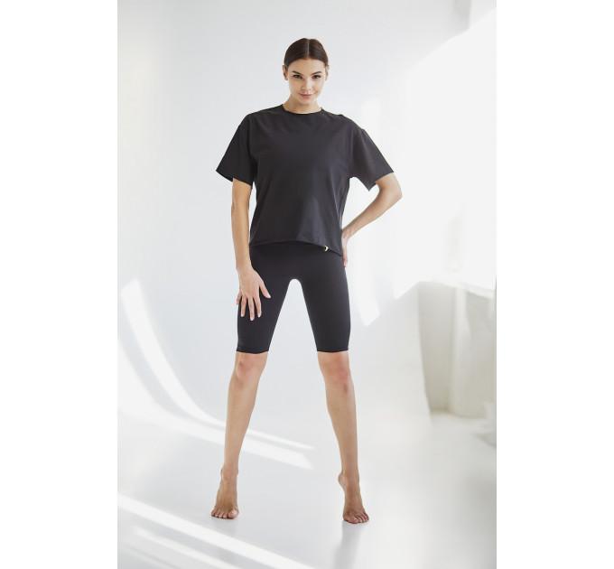 Черная базовая женская футболка New York
