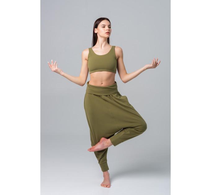 "Женские широкие штаны афганы ""алладины"" Puri в цвете хаки"