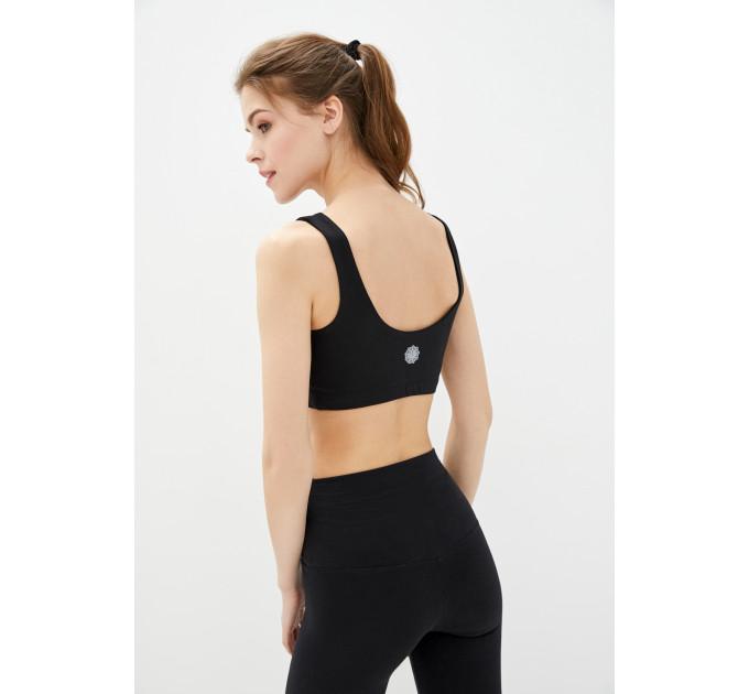 """Черный женский костюм для йоги и спорта из натуральной ткани """"Havana-Gatineau-black"""""""