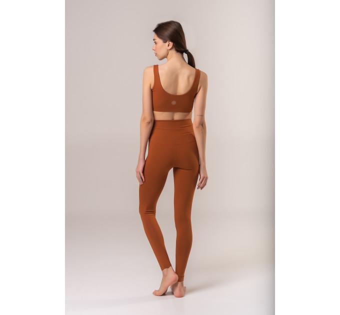 """Ирисковый женский костюм для йоги и спорта из натуральной ткани """"Havana-Gatineau-toffee"""""""