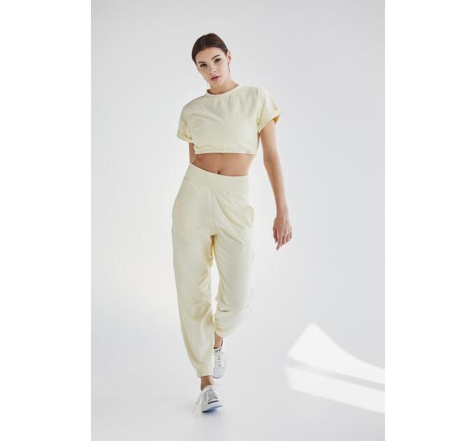 Женский спортивный костюм с штанами и укороченной футболкой топом Sindy Tripoli Lactic